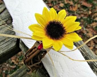 Sunflower Napkin Rings, Autumn Fall Napkin Rings, Thanksgiving Napkin Ring, Rustic Grapevine Napkin Ring, Fall Autumn Table Decor Decoration
