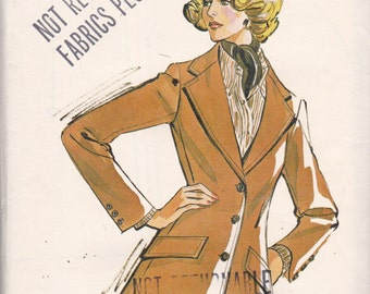 Kwik Sew 734 Vintage Pattern Womens Blazer Size 12,14,16 UNCUT