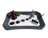 Mini Zen Garden // Laughing Buddha Statue // Desk Accessory // Safe Travel // Temple // Fairy Garden // DIY Zen Kit // Meditation