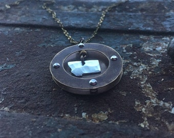 God's Country Montana shadow box necklace