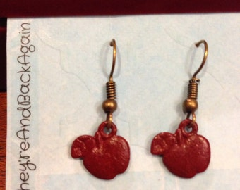Maroon Apple Earrings