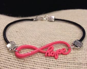 HotPink&Black Love Infinity Symbol Bracelet