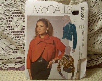 McCall's Pattern - M 5530 - Misses Lined Jackets - Size 4,6,8,10,12 - Factory Fold, Uncut Pattern