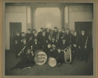 Gouverneur NY music band antique photo