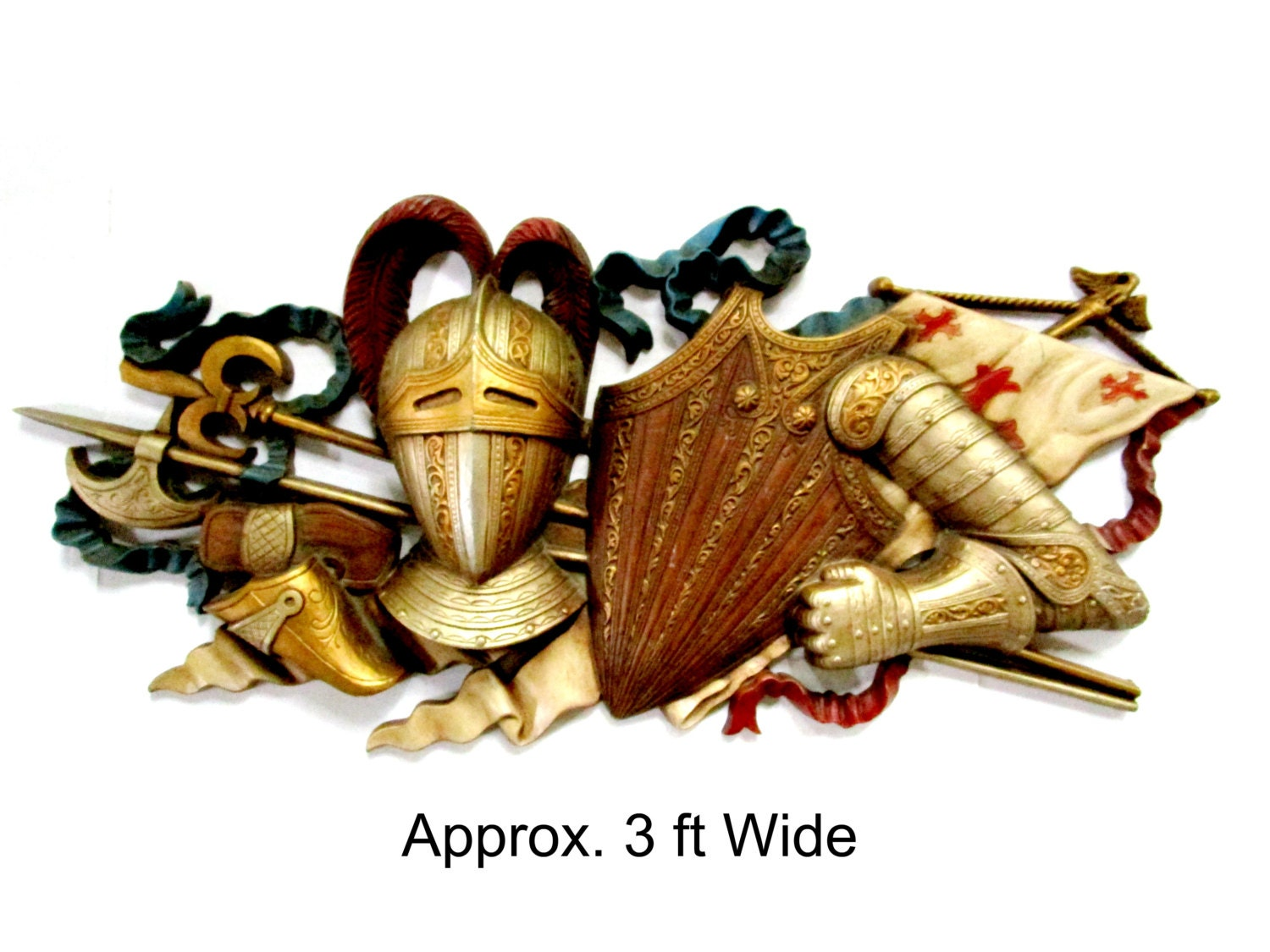 Medieval wall decor knight knights armor knights shield for Armor decoration