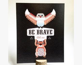 Totem Nursery Poster