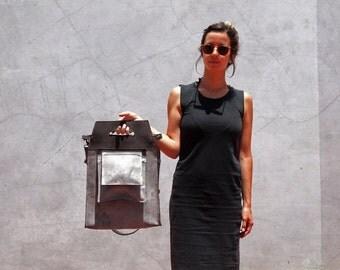 Gray leather handbag, women handbag, leather handbag, laptop handbag, gray leather bag, crossbody handbag, leather crossbody, gray crossbody