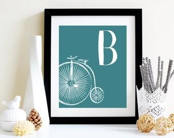 Bicycle Alphabet Picture