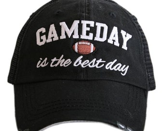 Hats { Gameday is the best day } Black or gray. Football.