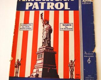 Vintage Sheet Music, American Patrol