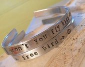 Fly High Free Bird bangle/cuff bracelets