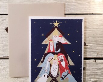 Blank Note Card Set- Away in the Manger