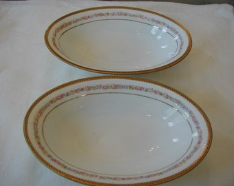 2 Serving bowls 9 1/2 in. long and 6 in. wide Carlsbad China K.B.N.Y. Austria Kaiserin Marie Theresea