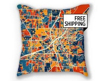 Huntsville Map Pillow - Alabama Map Pillow 18x18