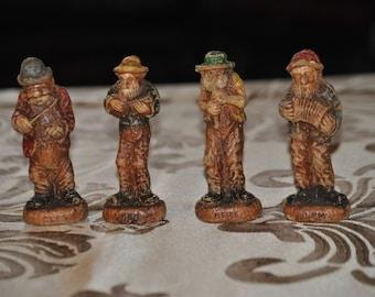 Vintage SYROCO HILLBILLY BAND Figurines - Clem, Ben, Pete and Lem