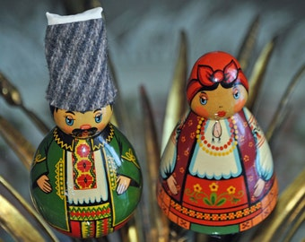 Vintage Russian Wooden Figurines