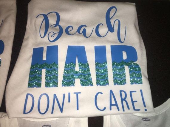 Beach hair don't care glitter tank