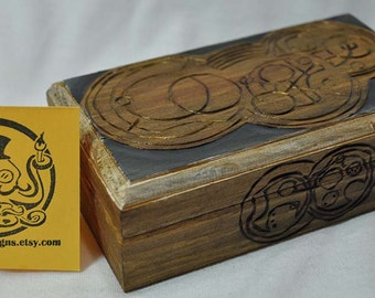 """Doctor Who Inspired  """"Don't Blink Stone Colored Box"""""""