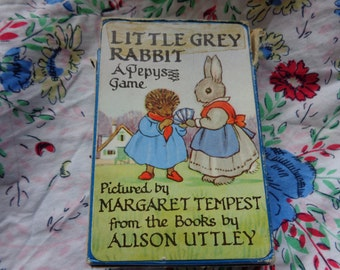 Little Grey Rabbit Vintage Card Game by Pepys illustrated by Margaret Tempest