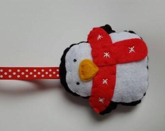 Handmade felt Christmas Penguin