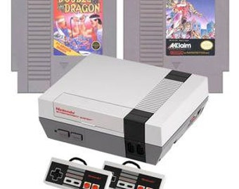 Original NES Console with Double Dragon 1 & 2 Games