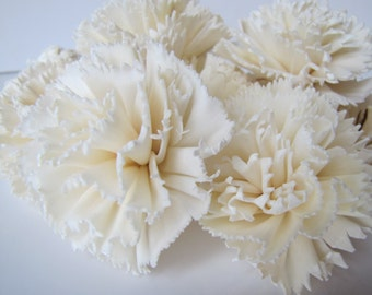 Carnation Sola Flowers - SET OF 10 , Sola Flowers, Wood Sola Flowers, Carnation Sola, Balsa Wood Flowers, Wedding DIY, Flowers for Crafting