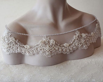 Wedding Lace Dress Shoulder, Wedding Dress Accessory, Bridal Epaulettes, Bridal Accessory