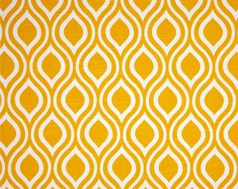 Nicole Slub Corn Yellow Premier Prints Fabric - One Yard - Yellow and White Home Dec Fabric