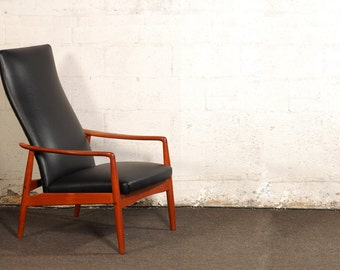 Mid Century Reclining Lounge Chair By Svend Langkilde for SL Mobler Denmark