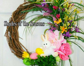 Easter Wreath, Spring Wreath, Grapevine Wreath, Easter, Easter Bunny, Easter Grapevine Wreath