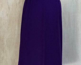 Purple Wool Pencil Skirt