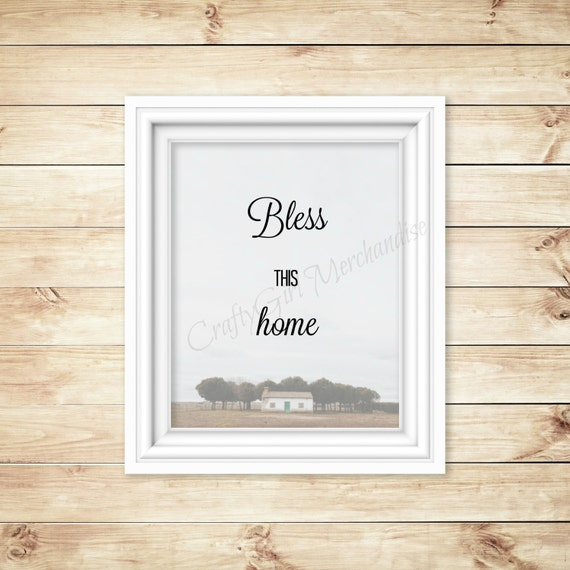 Printable Wall Art - Bless This Home - Home Decor - Instant Download