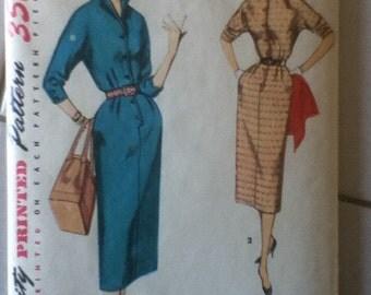 "Simplicity Vintage Dress Pattern 4807  Size: 14,  Bust 32"", Waist 26"", Hip 35"""