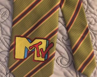 Hand Painted MTV on Gentleman Necktie