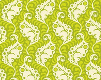 Heather Bailey Lottie Da 'Featherleaf' in Green Fabric