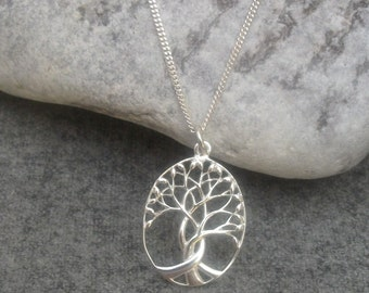 Sterling Silver Tree Of Life Necklace, Charm Necklace, Tree Of Life Pendant, Mothers Day Gift, Gift For Her, Birthday Gift