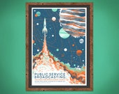 Public Service Broadcasting - The Race for Space Album Launch - Silkscreen Concert Poster - A2
