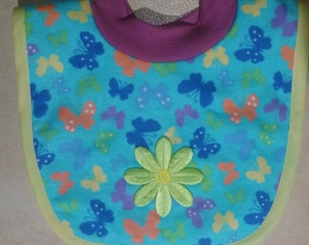 Easy on Butterfly Flower Bib