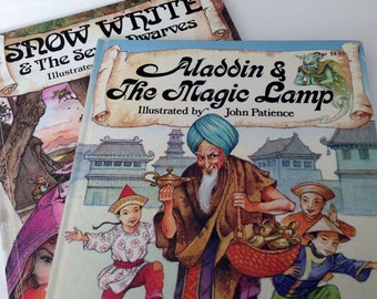 2 John Patience Storytime Books - Aladdin & The Magic Lamp and Snow White and the Seven Dwarves
