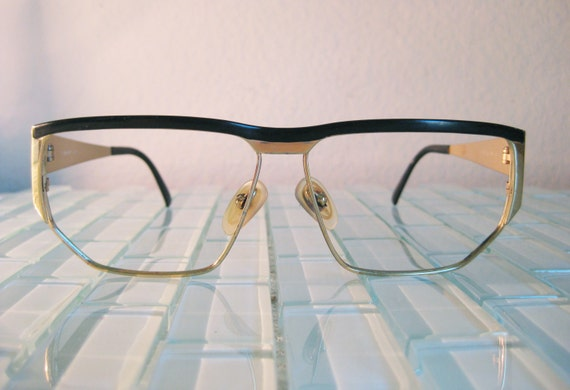 Glasses Frames Italy : Gold Metal Glasses Marcolin Frames Italy Oversized Geometric