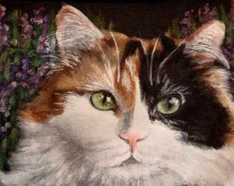 Freezable Wine Tote for Two Bottles 'Lilly' a Calico cat
