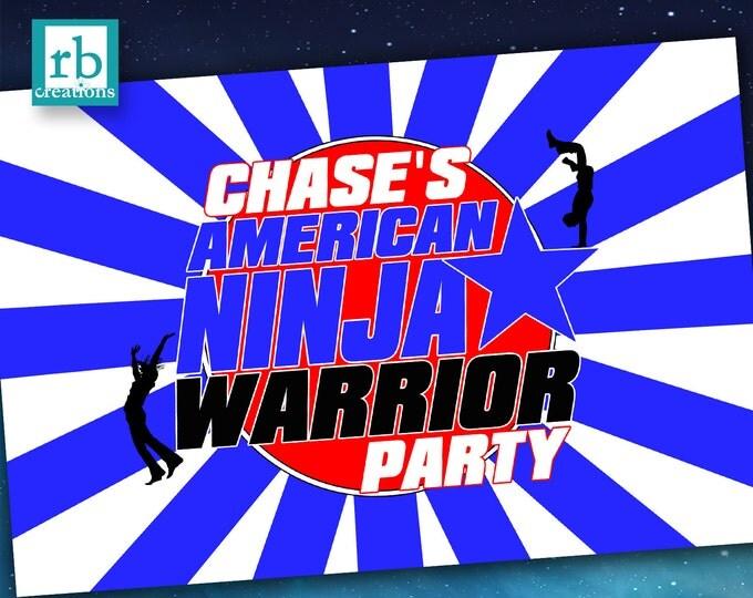 Printed Ninja Warrior Party Poster, Ninja Warrior Birthday, Ninja Warrior Custom Poster - Printed Photo Poster