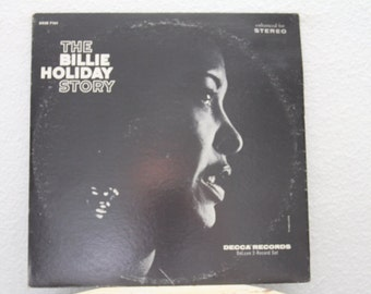 "Billie Holiday- ""The Billie Holiday Story"" vinyl record 2 LPs, Decca Label, 1959 (NT)"