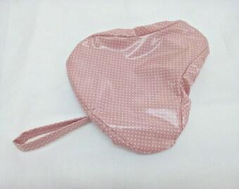 Saddle cover - polka dot rosè