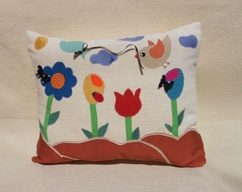 Unique handmade pillow - One of a kind