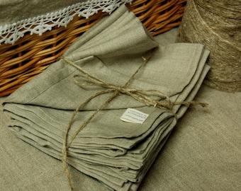Linen dish towel, pure organic linen kitchen towel, natural grey dining towel, flax tea towel, linen dishcloth