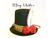 Ringmaster Top Hat Circus Party Birthday Mini Hat Birthday Girl Birthday Boy Greatest Showman Party