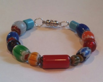 Retro Inspired Glass Bracelet
