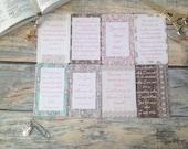 Bible Scripture Quote Cards Bible Journaling Scripture Journal Prayer