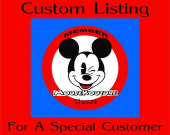 CUSTOM LISTING for stquaranta - Set of 5 Disney Shirts Mister Miss Mouse Shirts Family Vacation Clothes or Cruise Shirt - personalized